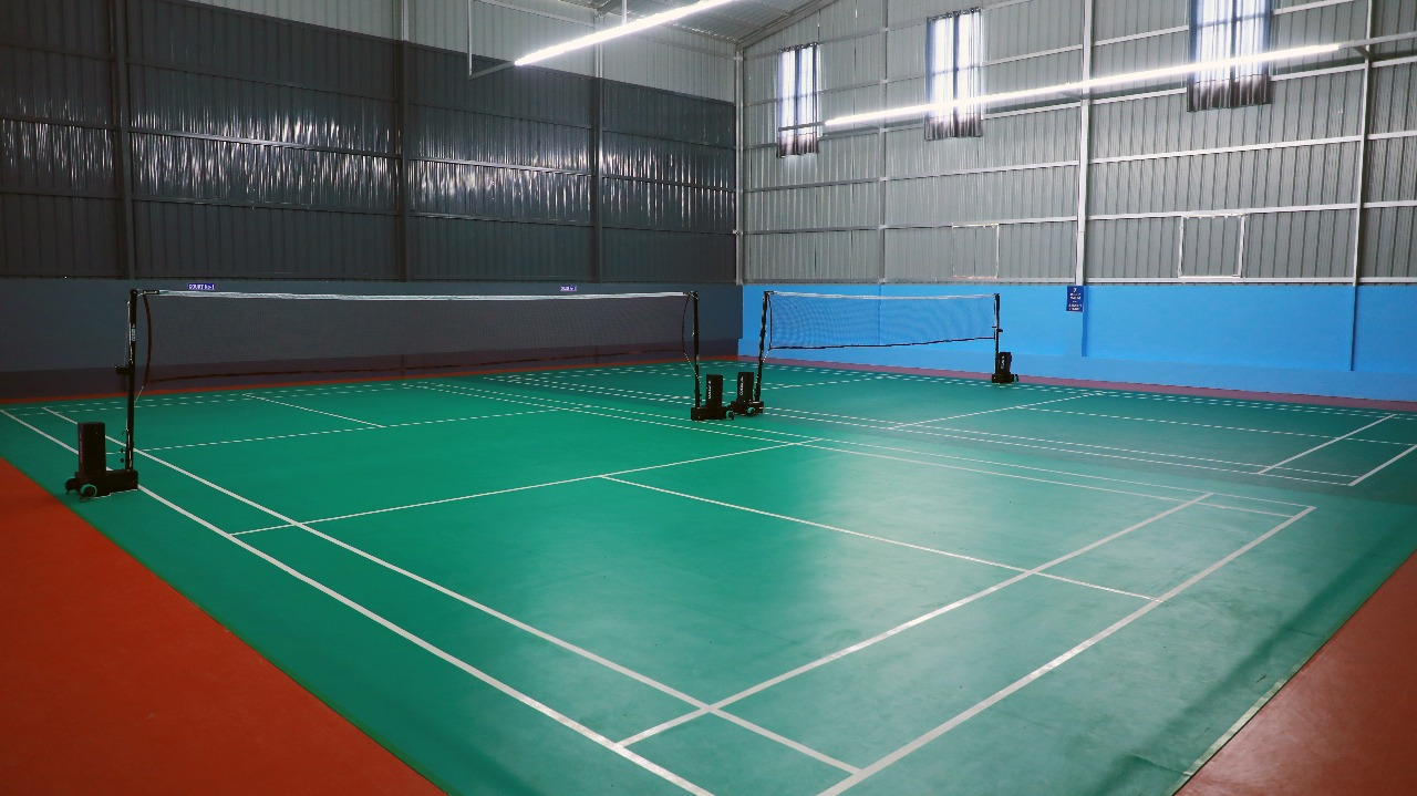 Vinyl Badminton Court Installation