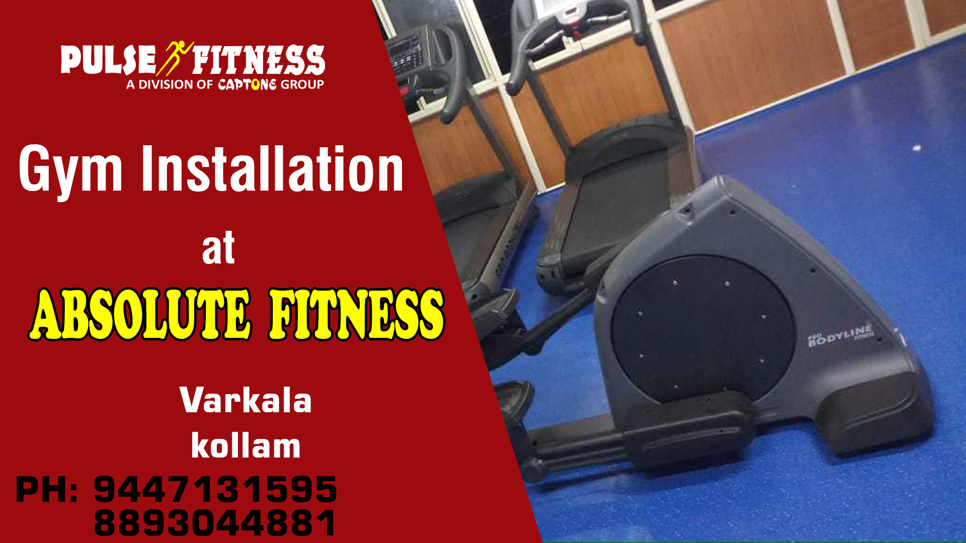 New gym installation from varkala